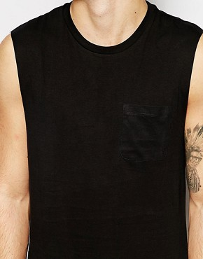 Image 3 ofASOS Sleeveless T-Shirt With Pocket