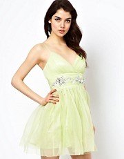 Lipsy VIP Babydoll Prom Dress