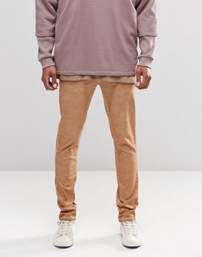 ASOS Skinny Chinos With Oil Wash In Tan