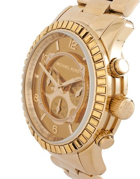 Image 3 ofMichael Kors Gold Chronograph Bracelet Watch