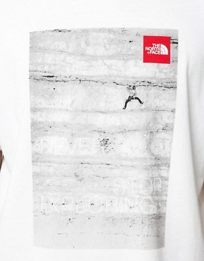 Image 3 ofThe North Face T-Shirt with Climber Photo Print