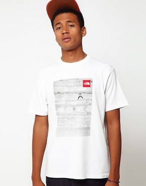 Image 1 ofThe North Face T-Shirt with Climber Photo Print