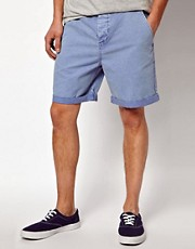 ASOS Chino Shorts With Acid Wash