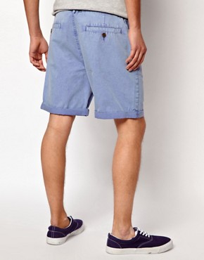 Image 2 ofASOS Chino Shorts With Acid Wash