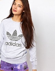 Adidas Sweatshirt With Bone Print Logo