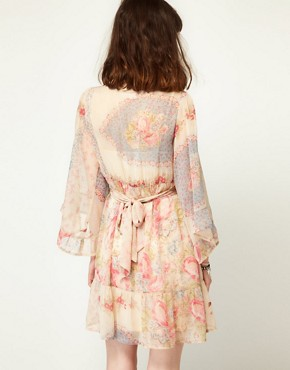 Image 2 ofLottie and Holly Babydoll Dress In Chiffon Floral