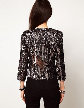 Image 2 ofASOS PETITE Exclusive Sequin Blazer