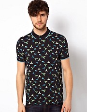 ASOS Polo With Bird Print