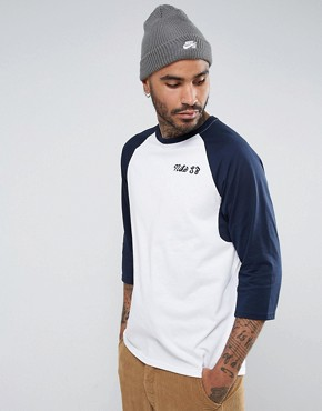 Nike SB Dri-FIT Raglan T-Shirt In White 860120-100