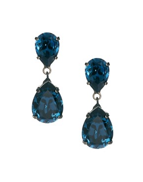 Image 1 ofKrystal Small Swarovski Pear Drop Earrings