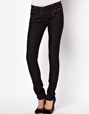 Image 1 ofASOS Super Sexy Skinny Jeans with Stud Detail