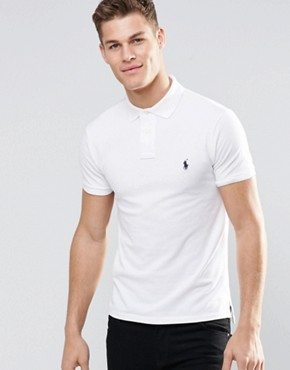 Image 1 ofPolo Ralph Lauren Plain Logo Slim Fit Polo