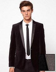 ASOS Slim Fit Blazer In Velvet