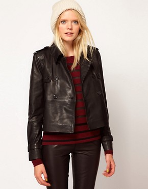 Image 1 ofSelected Trudie Leather Mac Style Jacket