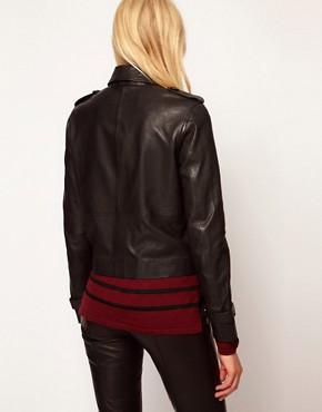 Image 2 ofSelected Trudie Leather Mac Style Jacket