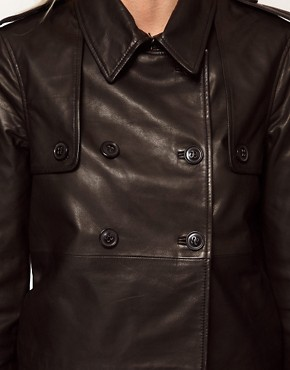 Image 3 ofSelected Trudie Leather Mac Style Jacket
