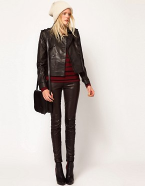 Image 4 ofSelected Trudie Leather Mac Style Jacket