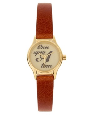 Image 1 ofASOS Watch With &#39;Once Upon a Time&#39; Dial