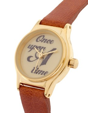 Image 3 ofASOS Watch With &#39;Once Upon a Time&#39; Dial