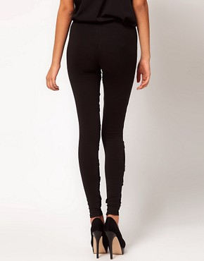 Image 2 ofASOS Leggings with Bondage Straps