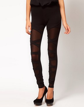 Image 4 ofASOS Leggings with Bondage Straps