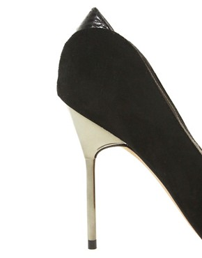 Image 3 ofSam Edelman Danielle Heeled Black Point Court Shoes