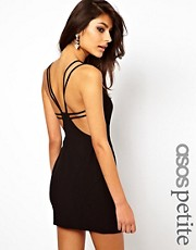 ASOS PETITE Exclusive Mini Dress With Strappy Back
