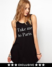 Wildfox Take Me To Paris Tank Dress Exclusive To Asos