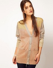 Emma Cook Lurex Cardigan With Colour Blocking