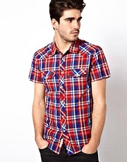 Lee Shirt Short Sleeve Western Check