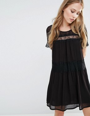 French Connection Rosie Lace Smock Dress