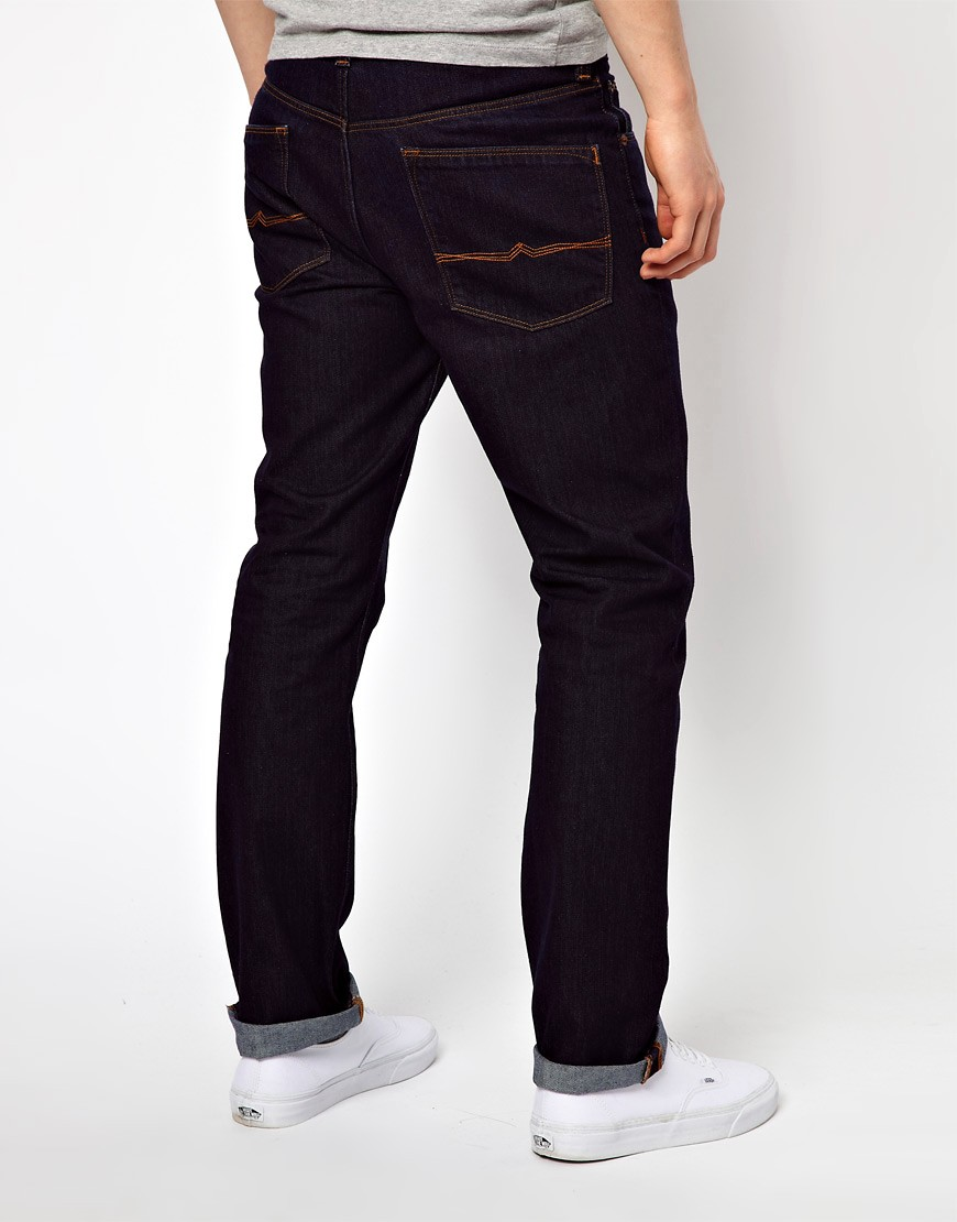 Image 2 of ASOS Straight Jeans In Indigo