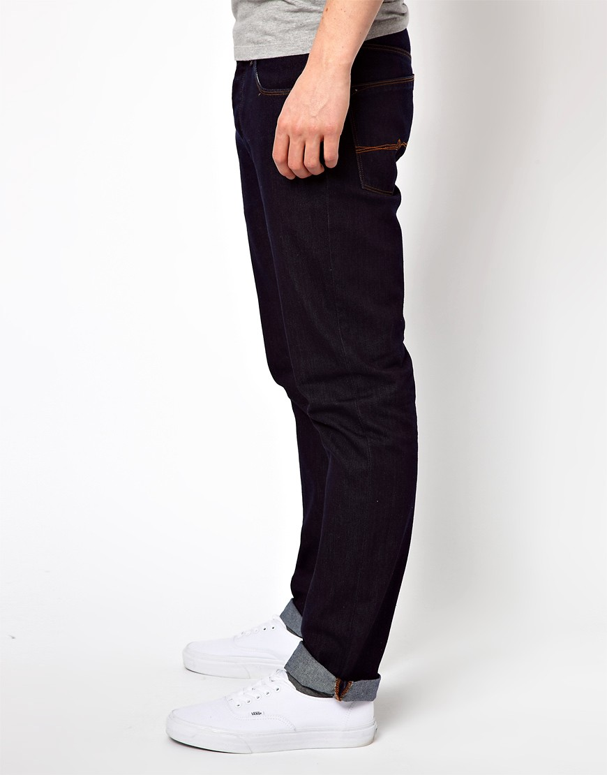 Image 4 of ASOS Straight Jeans In Indigo