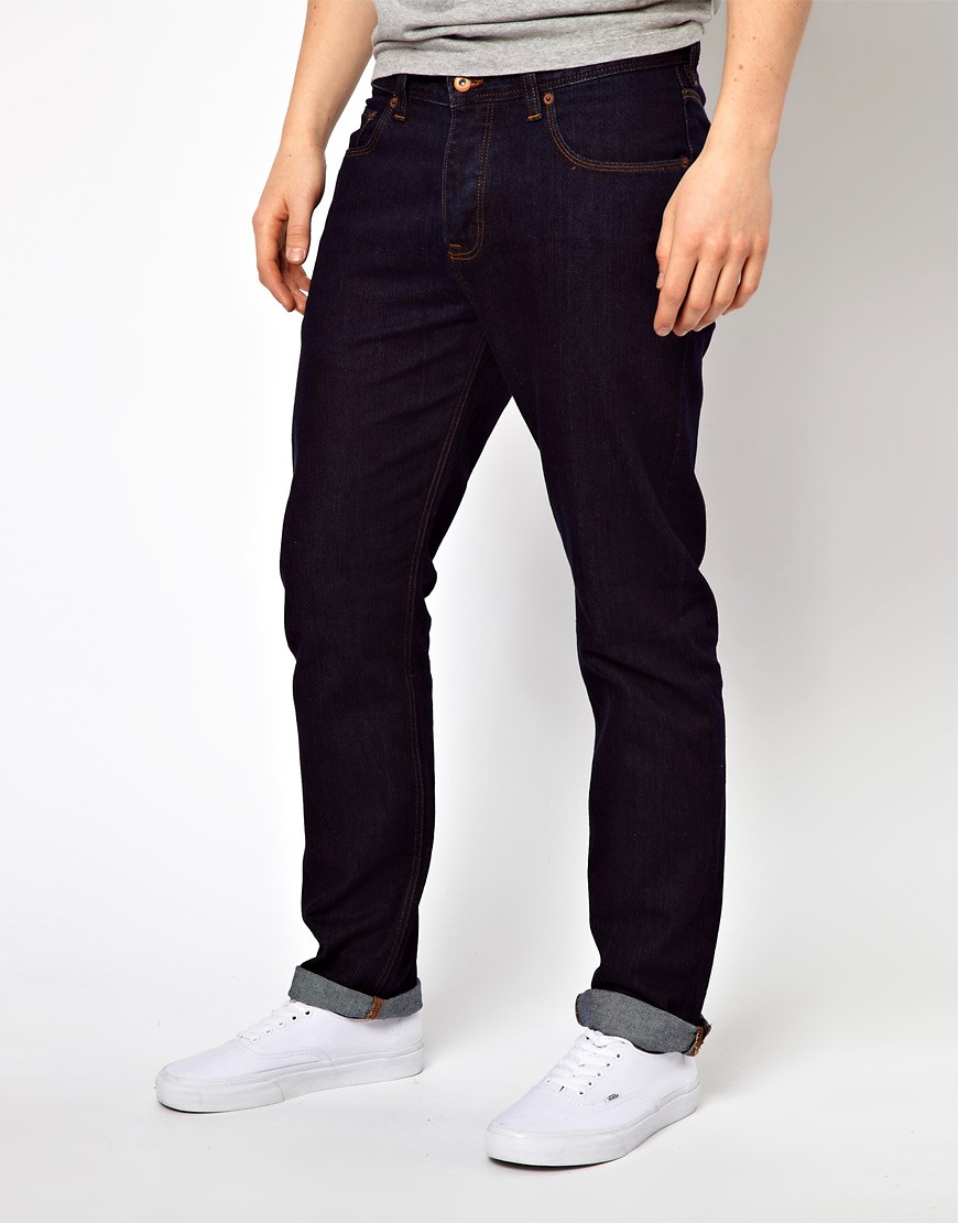 Image 1 of ASOS Straight Jeans In Indigo