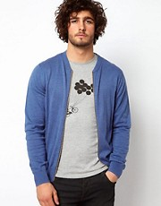 Paul Smith Jeans Cardigan Bomber with Zip Fastening