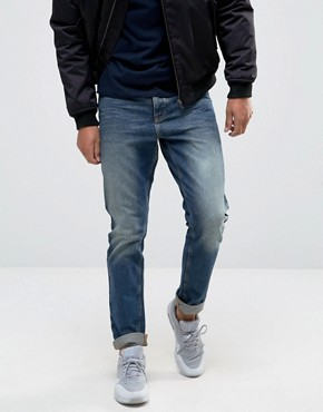 ASOS Slim Jeans In Mid Wash
