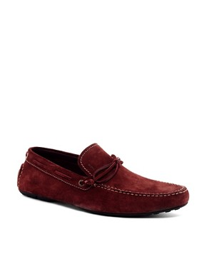 Image 1 ofBOSS Black Relto Suede Loafers