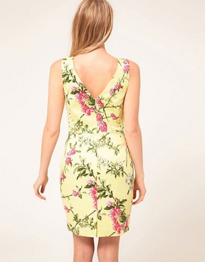 Image 2 ofOasis Climbing Rose Pencil Dress