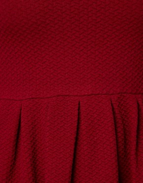 Image 3 ofGanni Waffle Skater Dress in Burgundy