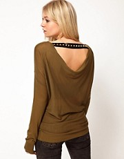 ASOS Jumper With Studded Drape Back