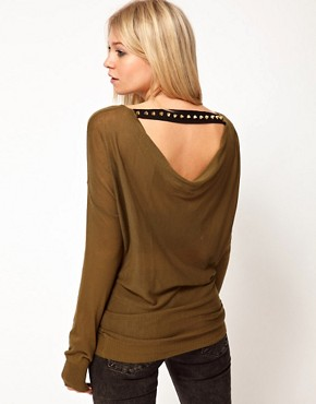 Image 1 ofASOS Jumper With Studded Drape Back