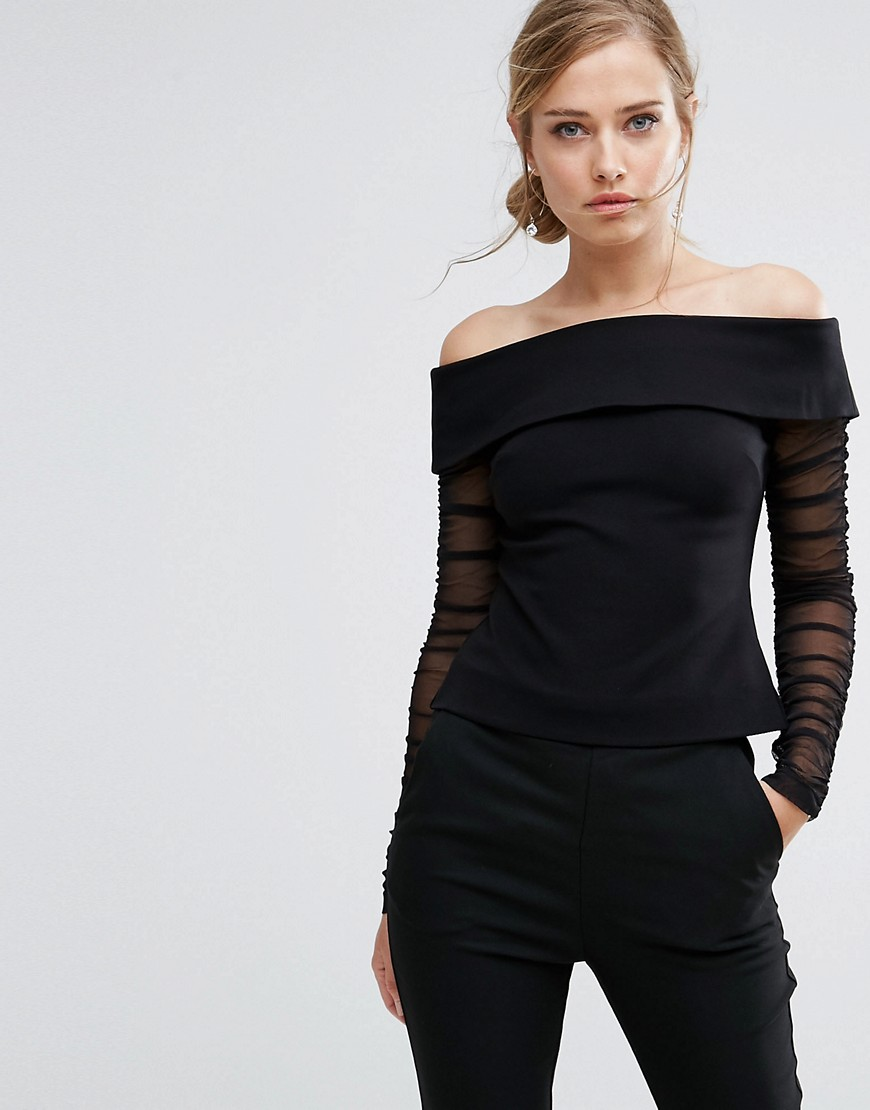 Coast Ainey Bardot Top - Black