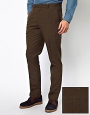 ASOS Slim Fit Suit Trousers in Check