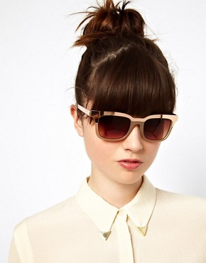 Image 3 of ASOS Retro Sunglasses With Metal Top