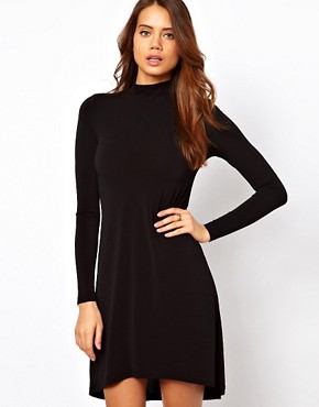 Image 1 ofASOS Shift Dress With High Low Hem