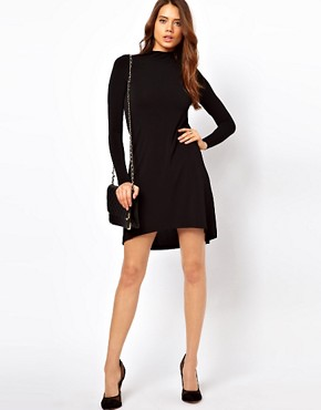 Image 4 ofASOS Shift Dress With High Low Hem