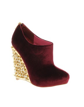 Image 1 of ASOS TIGER Studded Wedge Shoe Boots