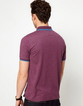 Image 2 ofASOS Polo With Paisley Print