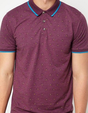Image 3 ofASOS Polo With Paisley Print