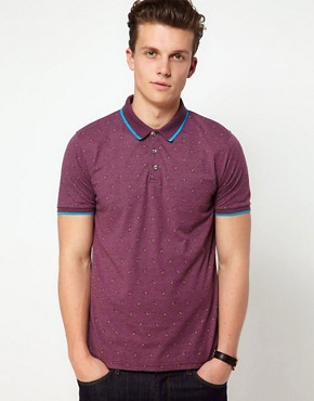 Image 1 ofASOS Polo With Paisley Print